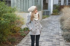 Warm Double-breasted Heather Coat - OASAP.com