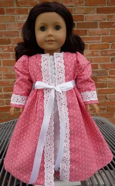 18 Doll Clothes Pretty Pajamas and Robe for by Designed4Dolls, $29.95