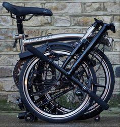 New limited edition Nickle black edition Brompton Folding Bicycle, Brompton, Street Art, Bike, Urban, Bicycles, Black Edition, Cycling, Motorcycles