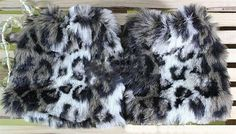 Winter Autumn 20cm Leg warmers Sleeve for boots boot covers man-made furs Faux Furry for Women Leg Shoes T-35