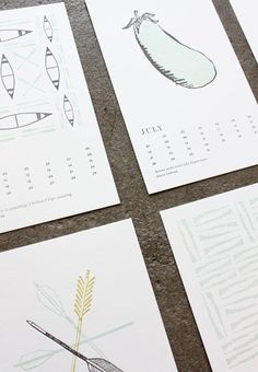 beautiful 2013 Calendar // sideshow press for garden