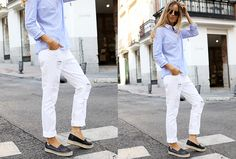 Simple but classy with this white boyfriend pants! | Fashion | Shopping…
