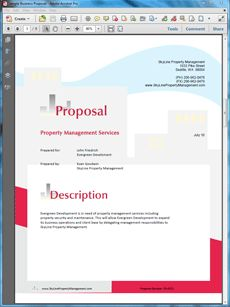 sample business proposals proposal software