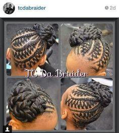 Creative Braided Updo @tcdabraider - Black Hair Information Community