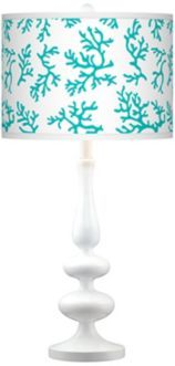 Love this turquoise lamp.  It's going in my beach house.