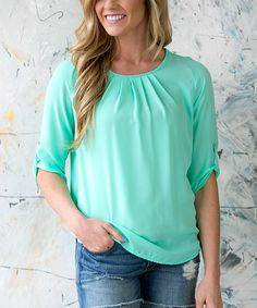 Look what I found on #zulily! Mint Chloe Spring Top by White Plum #zulilyfinds