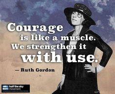 Here's some #MondayMotivation from one of Katharine Hepburn's good friends Ruth Gordon! #TheGreatKH