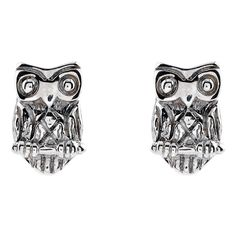 Accessorize Sterling Silver Owl Stud Earrings ($5.75) ❤ liked on Polyvore featuring jewelry, earrings, sterling silver owl charm, sterling silver stud earrings, charm earrings, owl earrings and owl charms