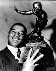 Number 44 Ernie Davis, the first African American to win the Heisman Trophy.