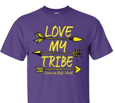 High School Impressions search HS-120-W; Love My Tribe Tribal Spirit Wear T-Shirts- Create your own design for t-shirts, hoodies, sweatshirts. Choose your Text, Ink and Garment Colors.