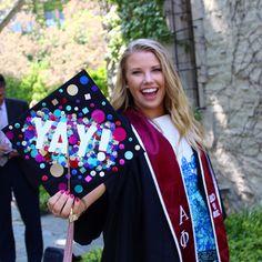 Confetti graduation cap!!                                                                                                                                                                                 More
