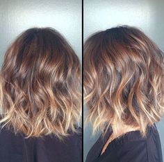 Pretty Short Ombre Haircut Balayage, Nail Art, Easy Hairstyles, Hair Ideas, Shoulder Length, Ombre Hair, Long Hair Styles, Auburn, Brown Blonde