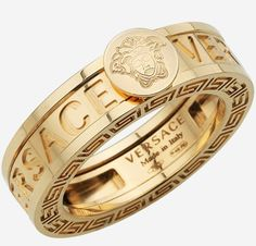 Gold Versace Ring