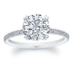 Norman Silverman Round Diamond Solitaire Engagement Ring