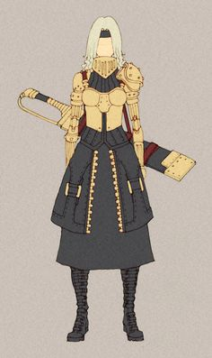 Oc - Cammila by MizaelTengu on DeviantArt I am LOVING the simplicity mixed with strategic detailing of these characters..