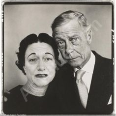 """You can't evoque an expression that doesn't come out of the life of the person"".  Avedon recalls how he had to tell the Duke and Duchess that his taxi had run over a dog, because he knew that they loved their dog... suddenly, they showed a sincere expression of sadness.  'THE DUKE AND DUCHESS OF WINDSOR, 4/16/57' sold by Sotheby's, New York, on Wednesday, October 06, 2010"