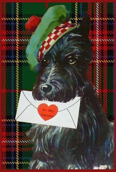Scottie Dog Vintage Valentine