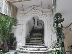 Casas gaditanas3 Andalusia Spain, Cadiz, Stairs, Mansions, House Styles, Home Decor, Monuments, Buildings, Tourism