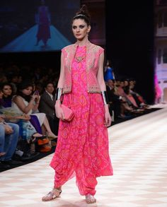 bhandhani pink gown