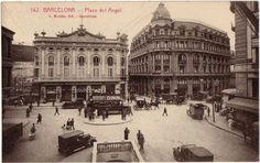 Plaça de l`Angel. Barcelona 1920.