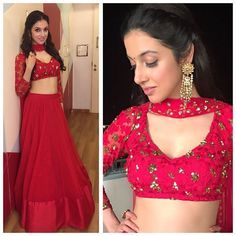 """Red Hot 💋 for prefestivities Diwali @asthanarangofficial jewels @jaipurgems styled by @rochelledsa @anishagandhi3 #love #indian #style #fashion #beautiful…"""