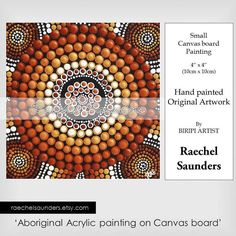 Authentic Aboriginal Dot Art Acrylic paint on by RaechelSaunders