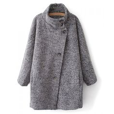 Stylish Turn-Down Collar Single-Breasted Long Sleeve Coat For Women, AS THE PICTURE, M in Jackets  Coats | DressLily.com