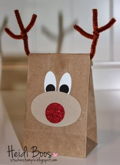 Gift Wrapping Stuck on Stampin': SS INKspiration – wrap it up! Decoracion Navidad Diy, Diy And Crafts, Crafts For Kids, Theme Noel, Punch Art, Kids Christmas, Holiday Crafts, Reindeer, Projects To Try