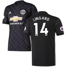 Jesse Lingard Manchester United adidas 2017/18 Away Replica Jersey - Black