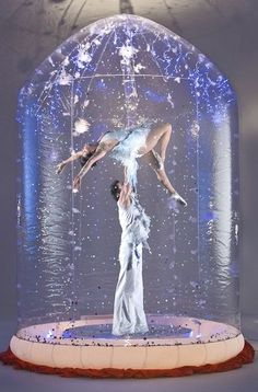 Giant Snow Globe acrobats will have your  guests talking about your Fairytale…