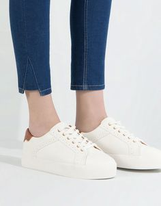 BLOCK PLIMSOLLS WITH PINKING DETAIL - WOMEN'S SHOES - WOMAN - PULL&BEAR Malaysia