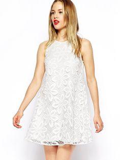 #AdoreWe #JustFashionNow Summer Dresses - Designer BKMGC White Girly Embroidered Floral Lace Dress - AdoreWe.com