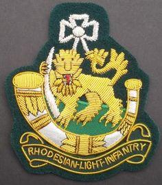 Rhodesian Light Infantry blazer badge