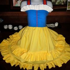 Snow White Boutique Knot Twirl dress6m to 8y by Twirlicious, $68.00