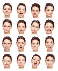 Schöne Junge Mädchen Gesicht ausdrücken, isoliert auf weiss Lizenzfreies stock-foto