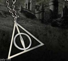 Hot Super Fashion Harry Potter The Deathly Hallows Charm Pendant Chain Necklace
