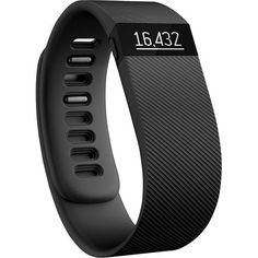 Fitbit - Charge Wireless Activity Tracker + Sleep Wristband (Small) - Black - Larger Front