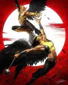 Hawkman & Hawkgirl by Yin Yuming