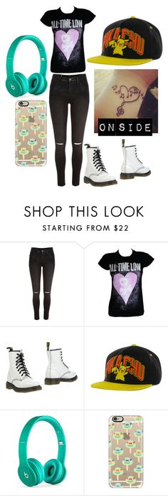 """Ootd *im gonna go get the tattoo* Blair *"" by jalexforever ❤ liked on Polyvore featuring River Island, Dr. Martens, Beats by Dr. Dre and Casetify"