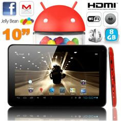 Tablette tactile 10 pouces capacitif Android 4.2 HDMI 3D 8 Go Rouge. http://www.yonis-shop.com/tablette-tactile-10-pouces/1637-tablette-tactile-10-pouces-capacitif-android-4-2-hdmi-3d-8-go-rouge.html