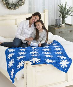 Icy Snowflake Throw Crochet Pattern | Red Heart