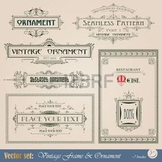 Vintage frame, ornament and element for decoration and design photo