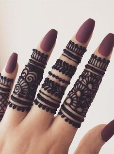 Gorgeous Simple Fingers Henna Designs for 2019 - Mehndi designs - Henna Designs Hand Henna Hand Designs, Eid Mehndi Designs, Mehndi Designs For Beginners, Modern Mehndi Designs, Mehndi Design Pictures, Bridal Henna Designs, Mehndi Designs For Fingers, Beautiful Henna Designs, Latest Mehndi Designs