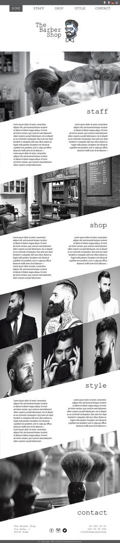 Template Grafico Layout  The Barber Shop #webdesign #design #website #template #layout