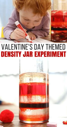 Super Fun Valentine's Day Themed Density Jar Experiment for Kids Science Valentines, Valentines Day Activities, Valentines For Kids, Valentine Day Crafts, Toddler Science Experiments, Science Activities For Kids, Science Projects, Stem Activities, Programming For Kids