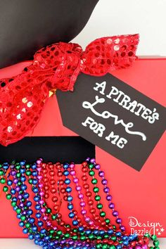 Pirate Valentine Card Box With Free Printable  Valentines card