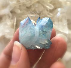 Beautiful Aqua Aura Crystals #AquaAura #Crystals