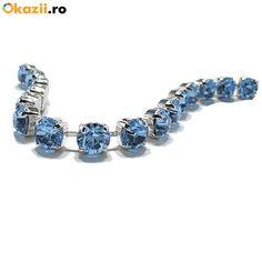 Bratara 2014 Light Sapphire Pandora Charms, Sapphire, Swarovski, Charmed, Bracelets, Jewelry, Charm Bracelets, Bijoux, Bracelet