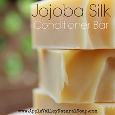 Solid Conditioner Bars, Natural Hair Conditioner, an ultra-conditioning, unscented shampoo bar for dry hair and scalp that also adds silk and shine to the hair shaft while taming the frizzies. Unscented Shampoo, Diy Shampoo, Shampoo Bar, Jojoba Shampoo, Conditioning Shampoo, Hair Conditioner, Homemade Conditioner, Diy Cosmetic, Homemade Soap Recipes