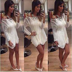 Hairpin Lace Crochet Dress!! What do you think?   Crochetz.com